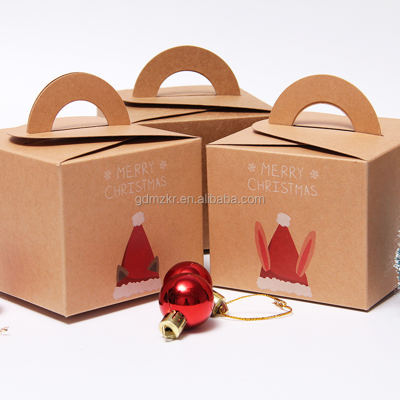 Factory custom logo cardboard feature craft paper box for gift cake apple