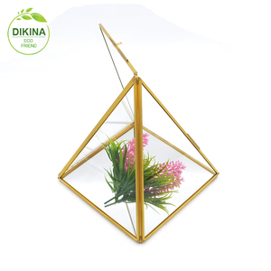 New product distributor wanted metal stands glass terrarium vase for home decor interior decorating