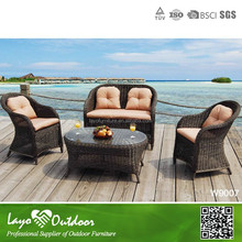 4PCS Alum Frame Rattan Sofa Set Cheap Rattan Garden Sofa Garden Furniture