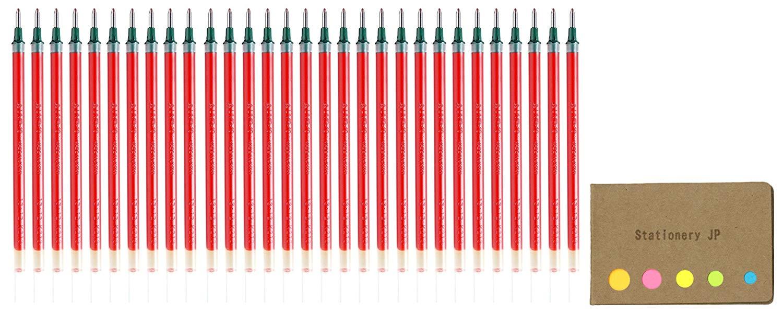 Uni-ball UMR-10 Refills for Signo Gel Ink Ballpoint Pen, UM-153, 1.0mm, Red Ink, 30-pack, Sticky Notes Value Set