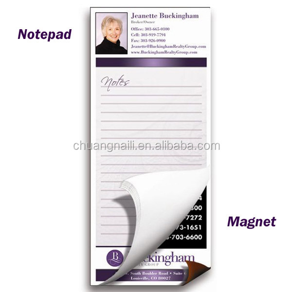 Peel Stick Business Card Magnetic Notepad