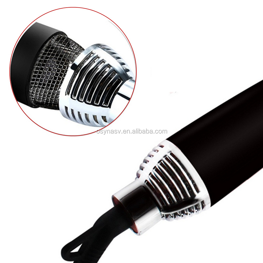 Salon hair styler tool hot air hair dryer and styler electric rotating hot air brush