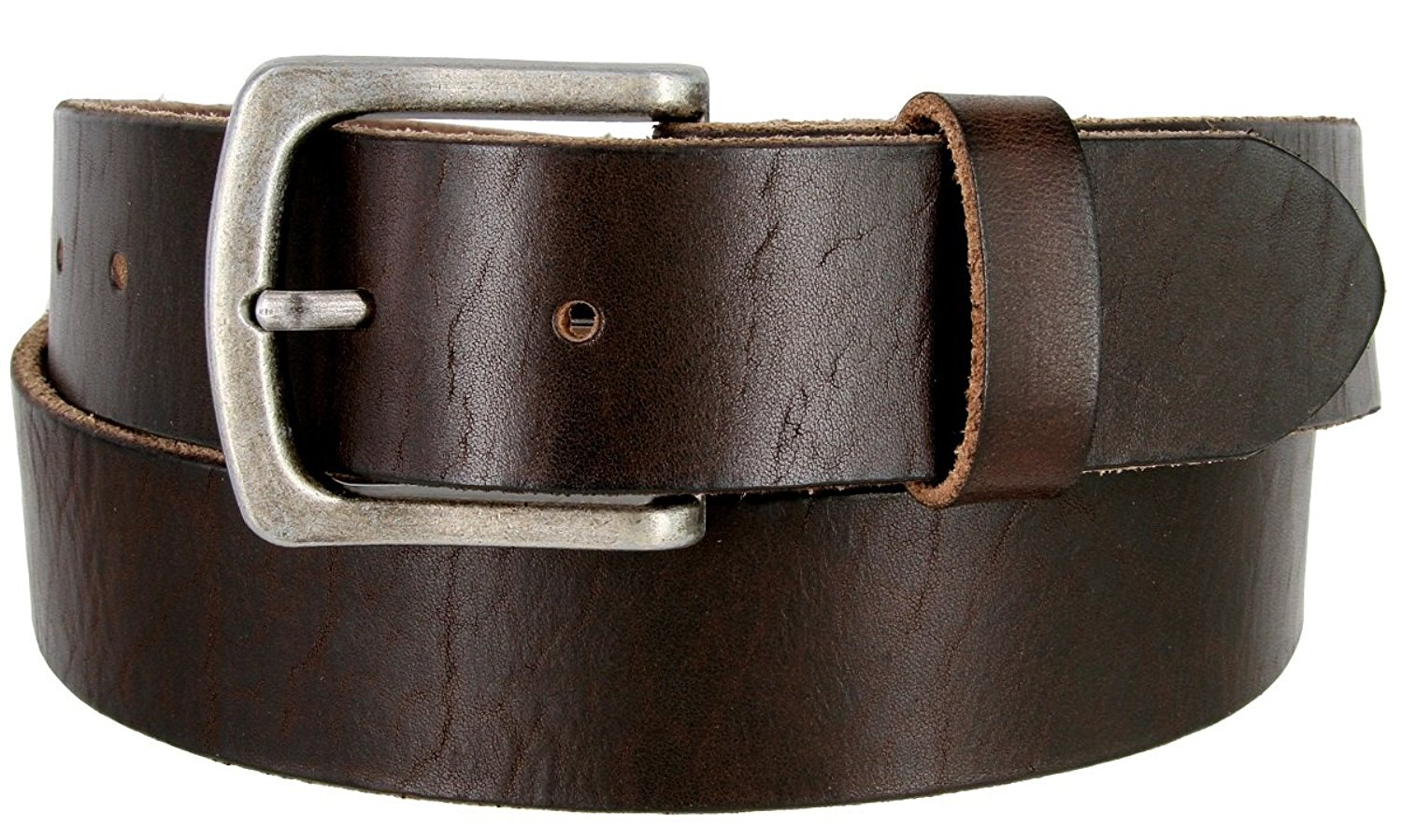 "Men's Vintage Full Grain Leather Casual Jeans Belt 1-1/2"" = 38mm wide BS40-FCB1-ANR"