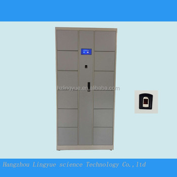 Compact Metal Gym Locker Fingerprint Locker Room Furniture