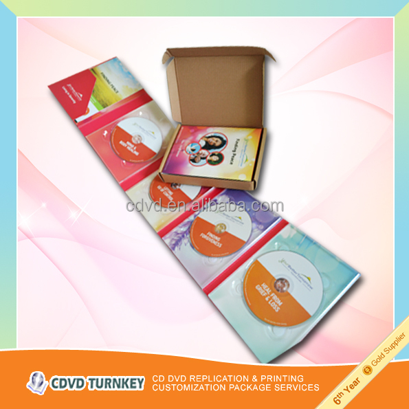 Paper cd cover printing supplier in china