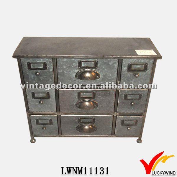 Metallmöbel vintage  Miniatur vintage industrie-möbel aus metall schrank-Andere ...