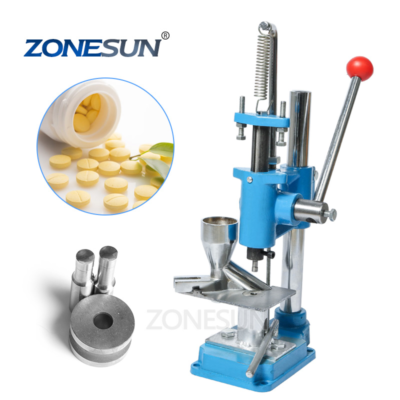 ZONESUN Pille Mini Pressmaschine Labor Professionelle Tablet Manuelle Stanzmaschine Medizinischen Herstellungsvorrichtung Für Heißen Verkauf