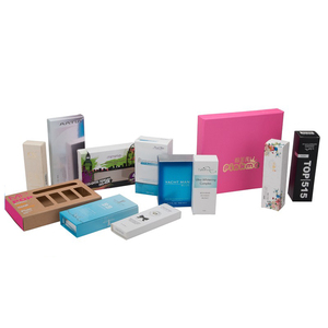 custom logo and color printing luxury package special paper cosmetic box