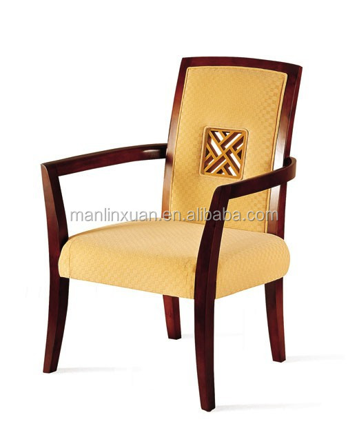 Hotel upholstered dining arm chairs XY3143