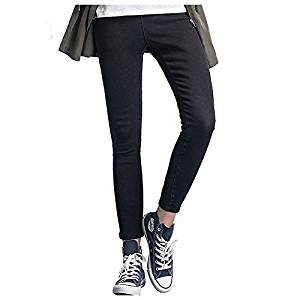 Women Jeans - TOOGOO(R)Woman's Fashion Leggings Summer Autumn High Waist Elastic plus Size women Skinny jeans denim pants(Black,M/US-2)