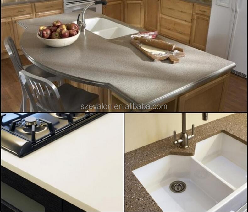 Corian Countertop Material Buy : solid surface kitchen rubber countertops, clear acrylic solid surface ...