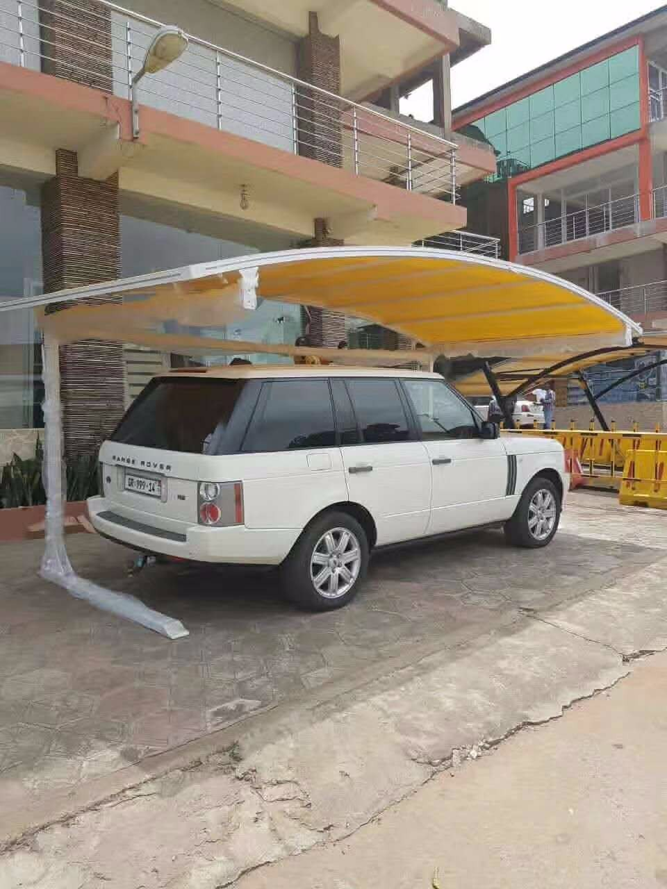 2018 newest modern design wholesale PVDF membrane UV coating durable car hood carport