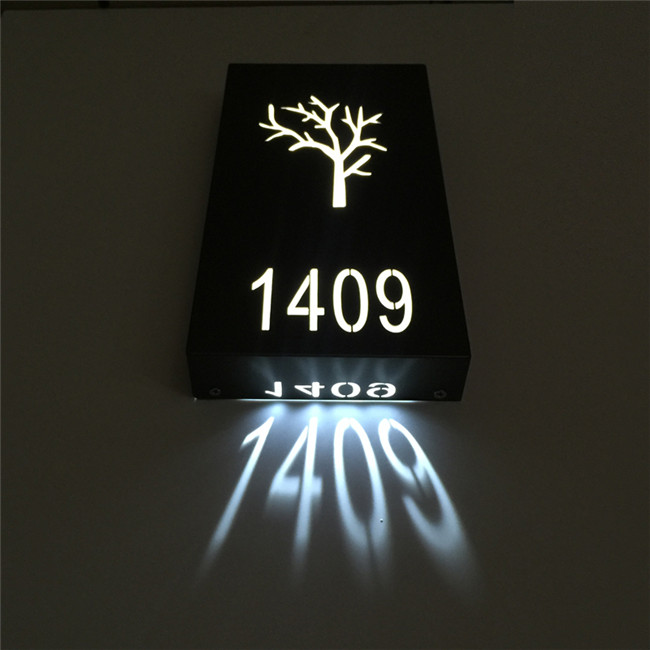 Customized made led hotel room number, hotel door number, hotel door plate sign