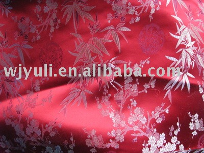 satin brocade polyester fabric for garment,bag