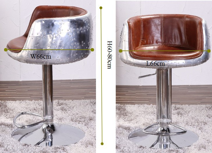 Vintage Aviation Genuine Leather Bar Stool Buy Genuine
