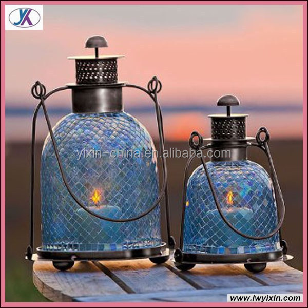 Large moroccan glass lantern wedding favors