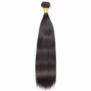 Straight unprocessed mink cuticle aligned hair supplier comb hair attachment and weaving extension bundles