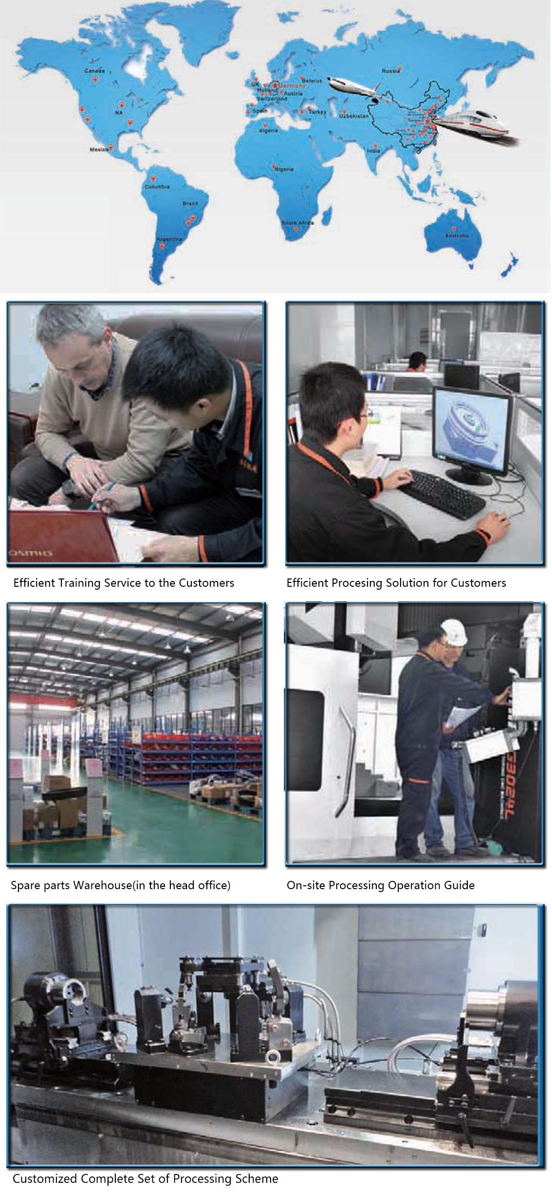 Pusat Mesin Baja Vertikal Linkage 5 Sumbu Tiongkok
