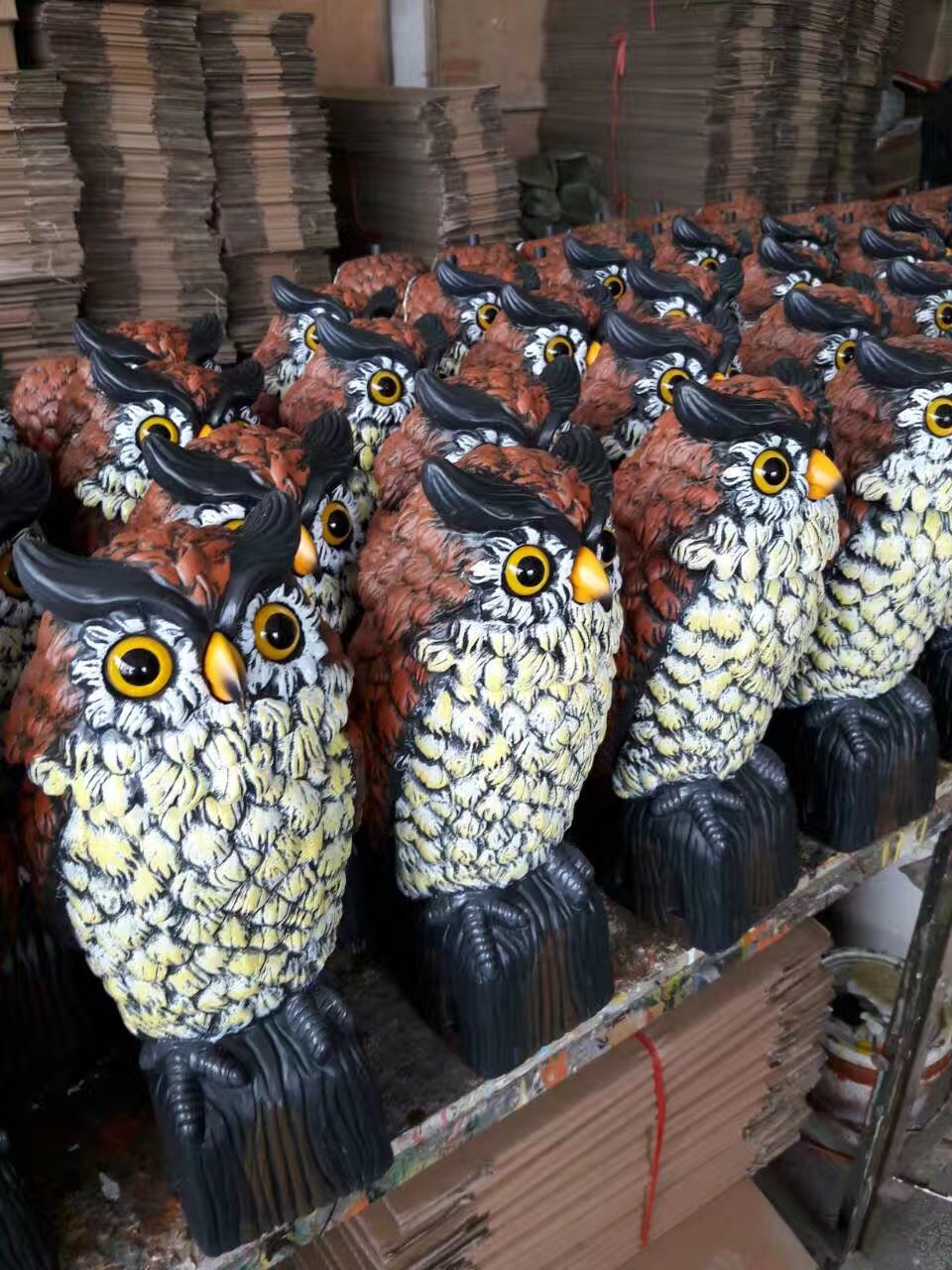 Osgoodway  China Factory Wholesale  UV PP Plastic Garden Action Owl With Rotation Head