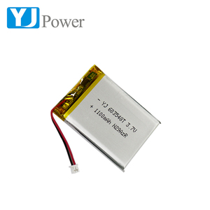Rechargeable lipo lithium polymer 603548 1100mah li-ion cell and li-polymer battery 3.7v with 1100mah for Electronic equipment