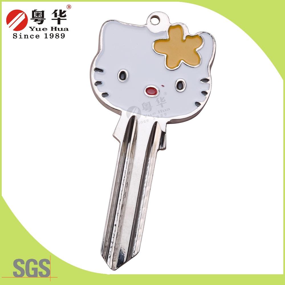 animation key cute hello kitty design cartoon color key blank customized brass door house key blank