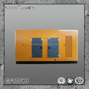 90kw 112 kva rated100kw max power230v 400v ac three phase trailer type water cooled electric diesel silent power generator price