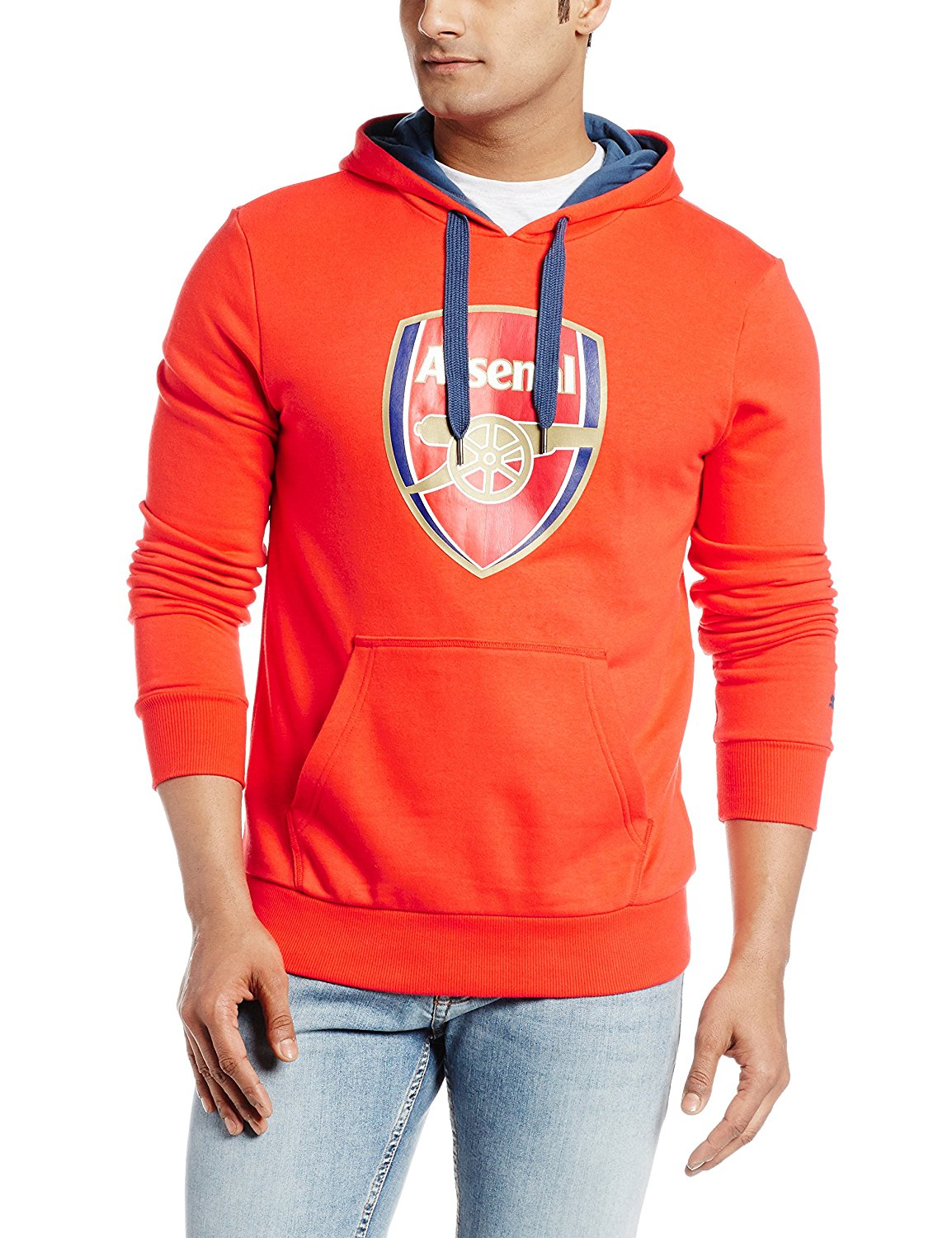 0703170387c8 Get Quotations · 2015-2016 Arsenal Puma Fan Hoody (Red)