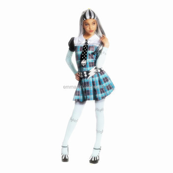Childrens Girl Monster High Frankie Stein Halloween Costume Fancy Dress Up Party Outfit SA887