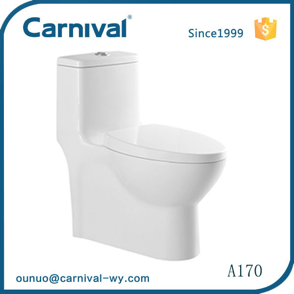 China supplier bathroom design public two piece dual flush siphonic wc toilet seat A170