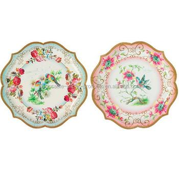 charming vintage style party plates food platters paper plates 30cm 2 diferent designs.Vintage Tea  sc 1 st  Alibaba & Charming Vintage Style Party Plates Food Platters Paper Plates 30cm ...