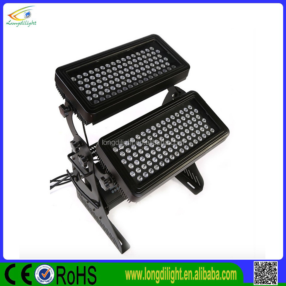 Outdoor pr city color 192*3W rgbw double head led wall wash light