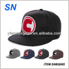 Good quality embroidery custom snapback 5 panel hats acrylic letters