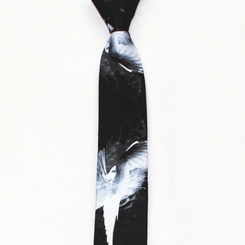 Wholesale designer hand made black and white men ties