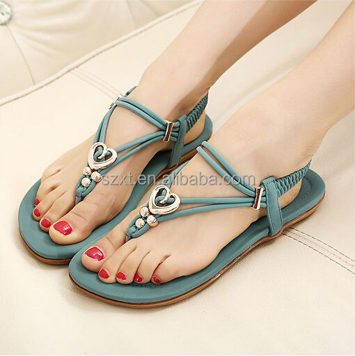Latest Girls Pink Cheap Flats Sandal 2014 New Style Summer Womens ...