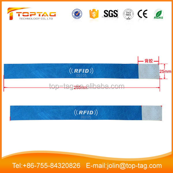 Disposable RFID Paper Hospital Wristband 13.56Mhz