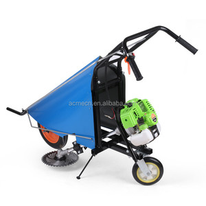 Corn stalk soybean forage harvesting manual push gasoline harvester machine