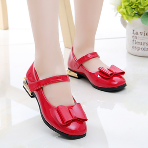 YY10077S Wholesale new model beautiful stylish fancy bowknot flat dress shoes kids girls party shoes
