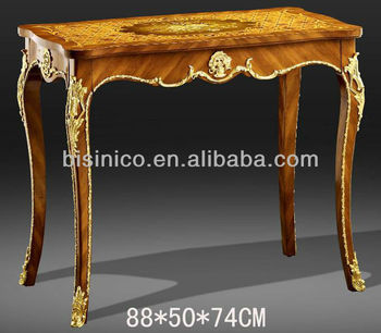 French Antique Style Luxury Marquetry Console Table