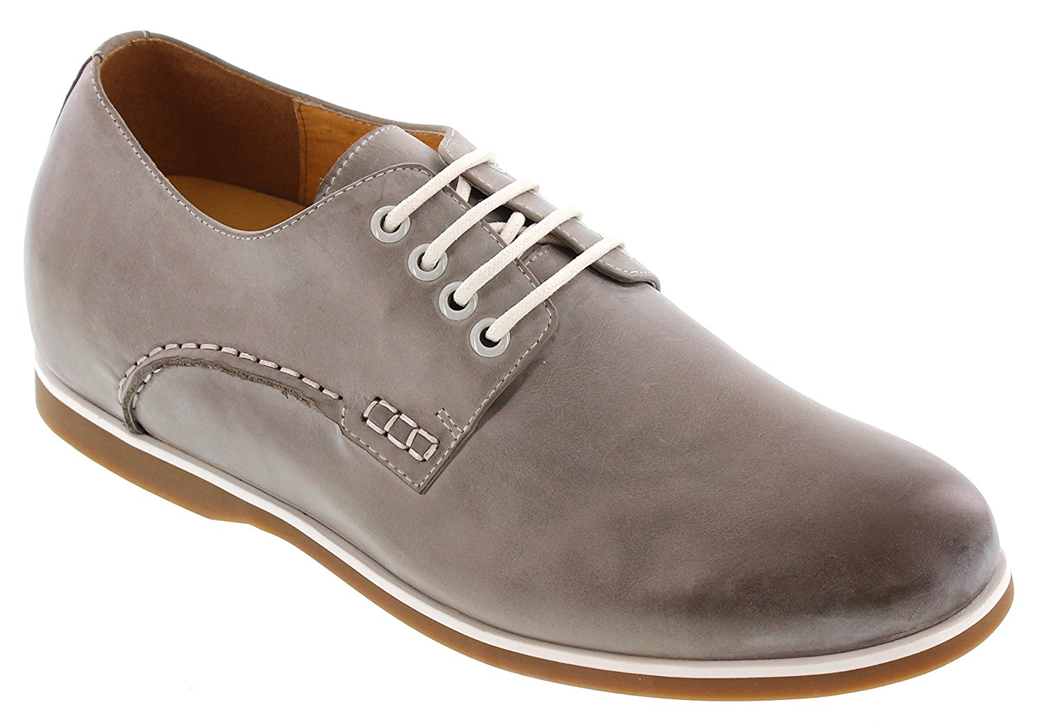 Toto D21906-2 inches Taller - Height Increasing Elevator Shoes - Marble Grey Lightweight Casual Shoes