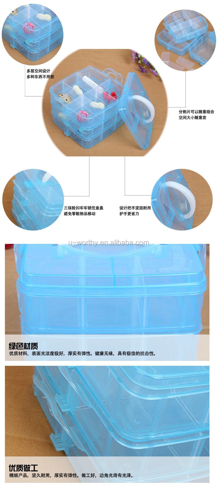 13 compartimentos destacáveis caixa de armazenamento dividido plástico transparente para parafusos