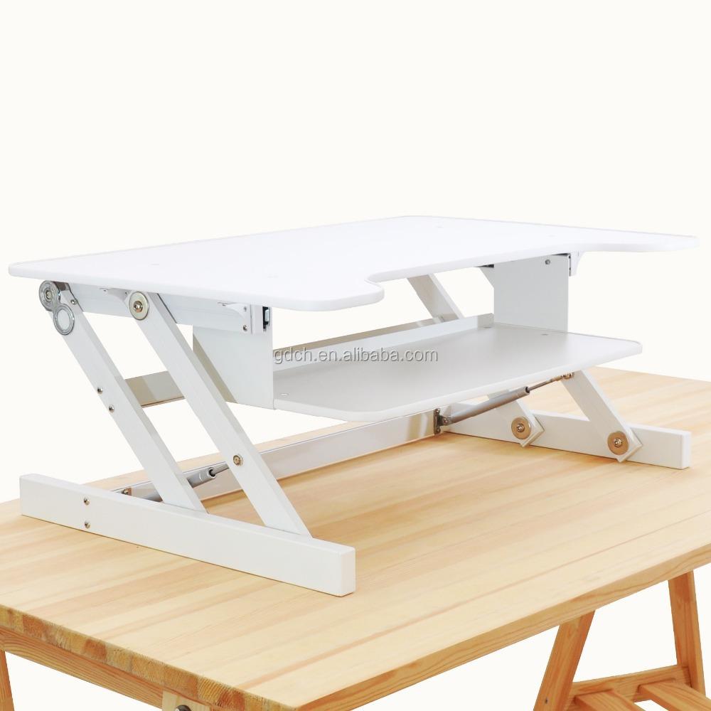 Portable Wooden Desktop Table Folding Adjustable Laptop Riser