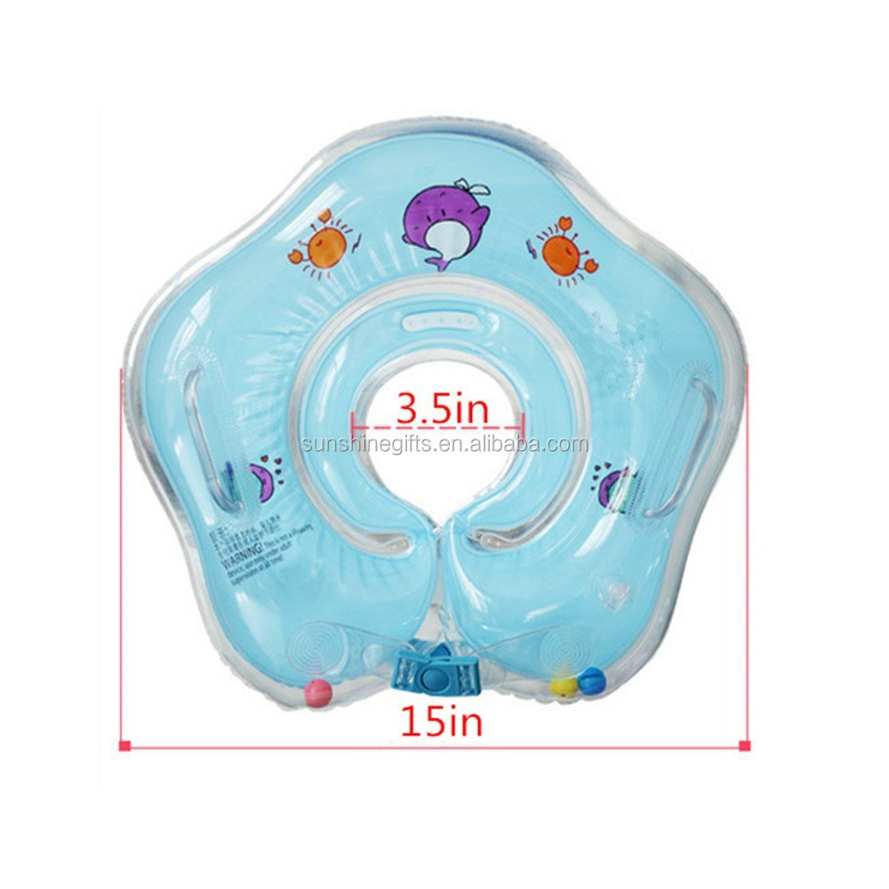 Baby Neck Hold Swim Ring Swimming Pool Float Trainer Infant ...