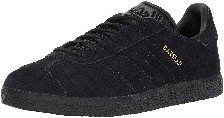 finest selection 19bc6 4fab8 Get Quotations · adidas Originals Gazelle Sneaker,BlackBlackMetallic  Gold,8.5 Medium US