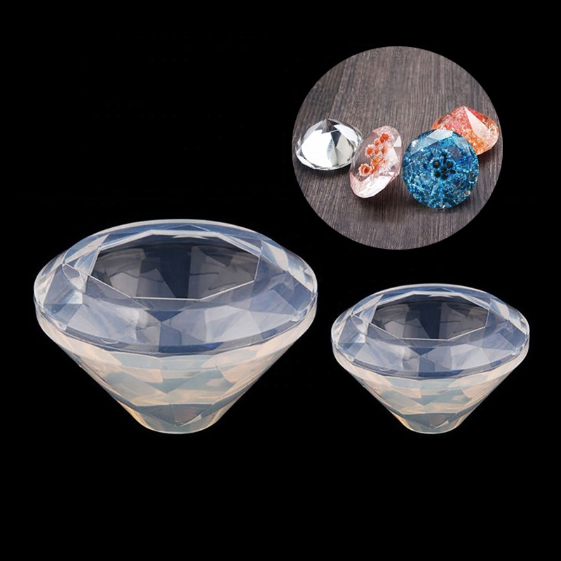 Factory Price DIY Diamond Shape Resin Jewelry Silicone Pendant <strong>Mold</strong>