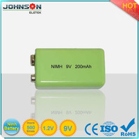 Factory price 9v rechargeable NIMH battery 180mAh for electronic camera