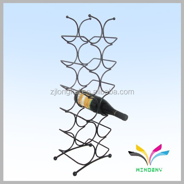 Powder coated supermarket small portable wire High quality sturdy wire bottle antique wall mount holder rack display