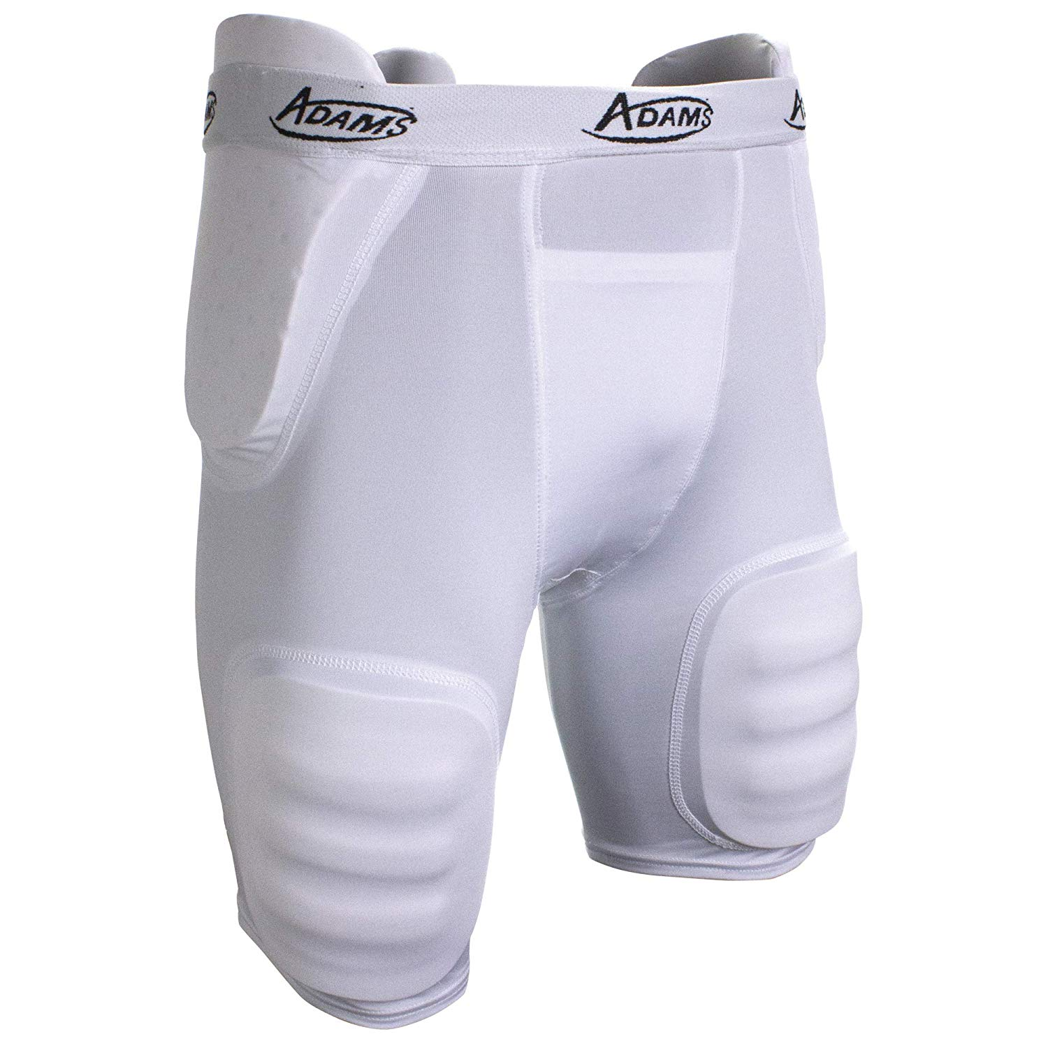 72abd615e6a97 Get Quotations · Adams USA Girdle High Rise Football Girdle with Integrated  Pads, White/Charcoal Gray,