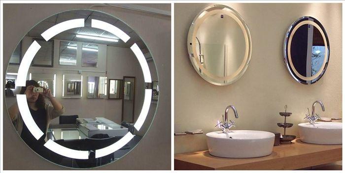 Hotel Bathroom T5 Round LED Backlit Mirror