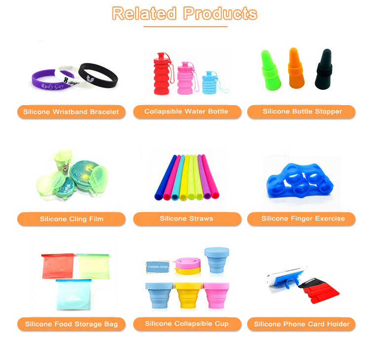 Factory price office portable silicone pencil pouch bag with zipper