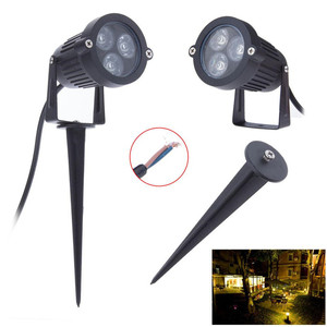 Aluminum waterproof IP65 outdoor garden light dc12v 24v 3w led landscape spotlight